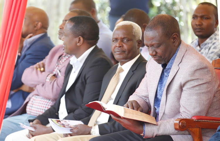 Deputy President William Ruto during a church service at Catholic Church of Uganda Martrys Kibirichia Parish, Buuri, Meru County on February 8, 2020.