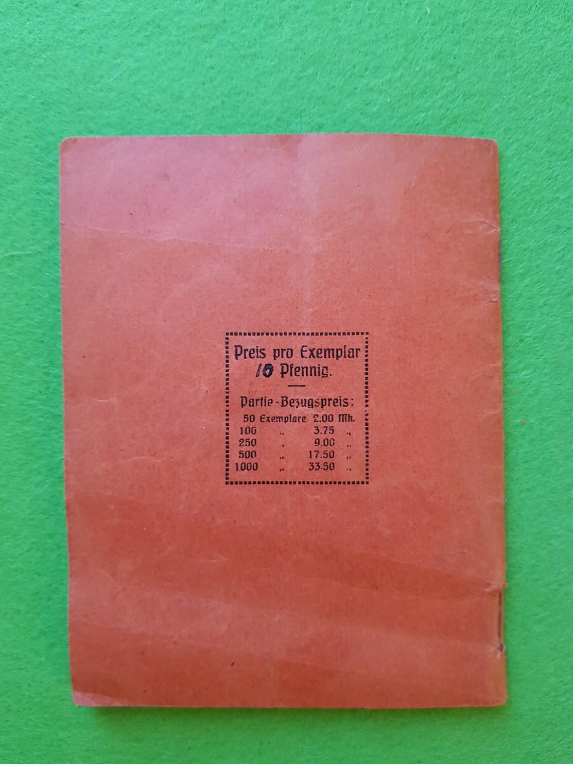 Arbeiter Liederbuch für Massengesang, 1910 - Preis 10 Pfennig
