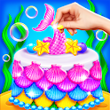 Mermaid Glitter 🌈 Cake Maker Chef icon
