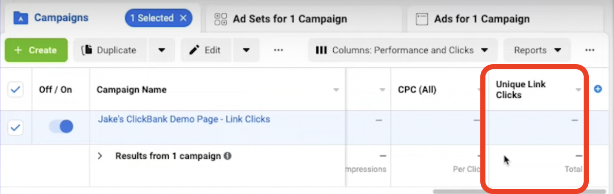 affiliate marketing on facebook clickthrough rate