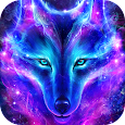 Night Sky Wolf Live Wallpaper
