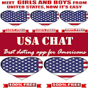Usa Chat And Dating App icon