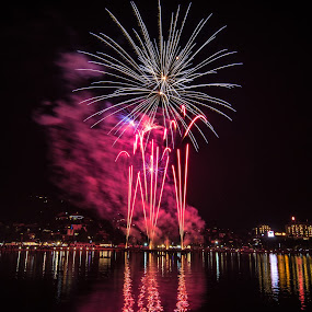 Fireworks by Matic Cankar - Public Holidays New Year's Eve ( colour, winter, new year, fireworks, night,  )