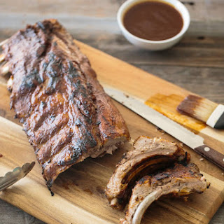 Barbeque Ribs with Spiced Rum Pineapple Sauce.