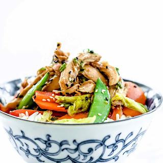 Slow Cooker Teriyaki Chicken Rice Bowls.