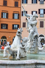 Photo: Piazza Navona - Fontana del Moro részlet