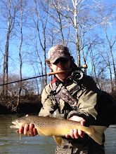 Photo: Andrew Cook sent us this photo of a beauty caught on a streamer- Mad River Ohio