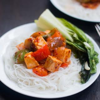 20 Minute Tofu Stir Fry Curry.