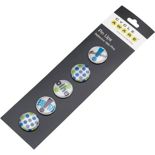 Cycle Aware Pin Ups Reflective Velo Pins: Silver