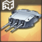 試製203mm三連装砲T0
