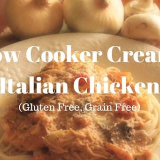 Slow Cooker Creamy Italian Chicken.