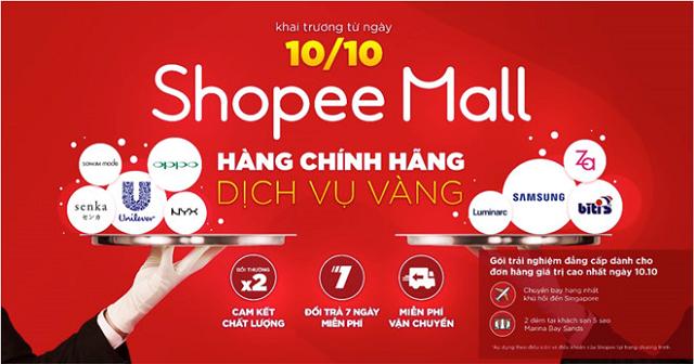 Những cửa hàng thuộc Shopee Mall được người tiêu dùng đánh giá rất cao