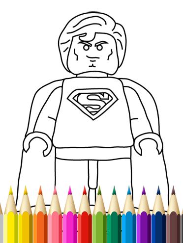 Kids Coloring Book Superheroes