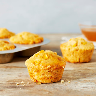 Brown Butter Cornbread Muffins with Sweet Tea Glaze