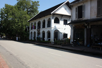 Photo: Day 261 - Sakkaline Street in Luang Prabang (Our Guest House is Just Behind this White Restaurant)