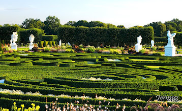 Photo: Baroque garden in the evening light