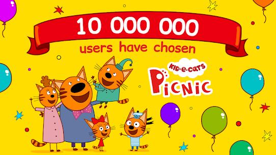 Kid-E-Cats: Three Cats on a Picnic! Kitty Games! 1