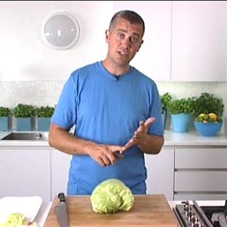 Cabbage 'confit' And Leek Salad.