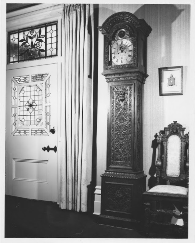Grandfather clock in 'High Peak', Neika, Tasmania