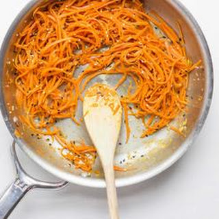 Carrot Noodles with Sesame and Soy Recipe