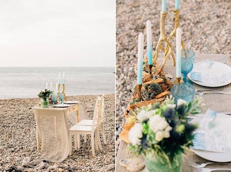 Nautical seaglass & driftwood wedding shoot in Etretat - Normandië