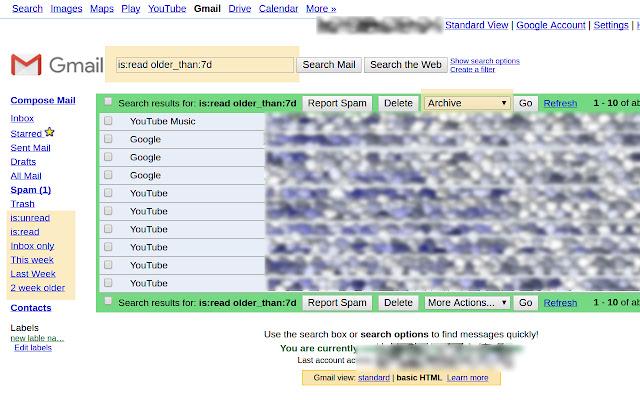 Gmail HTML basic