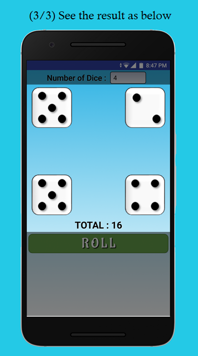 Dice Roller- screenshot