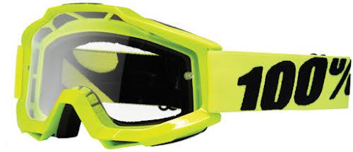 100% Accuri Goggle, Fluorescent Yellow (Clear)
