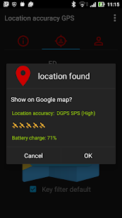 GPS Location tracking - náhled