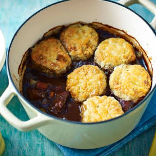 Beef Cobbler With Cheddar And Rosemary Scones.