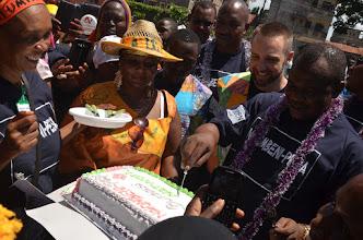 Photo: Official opening of Ng'ombeni-Pesa by member of parliment Hon. Twalib Badii