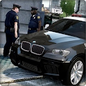 SUV Police Driving 3D icon