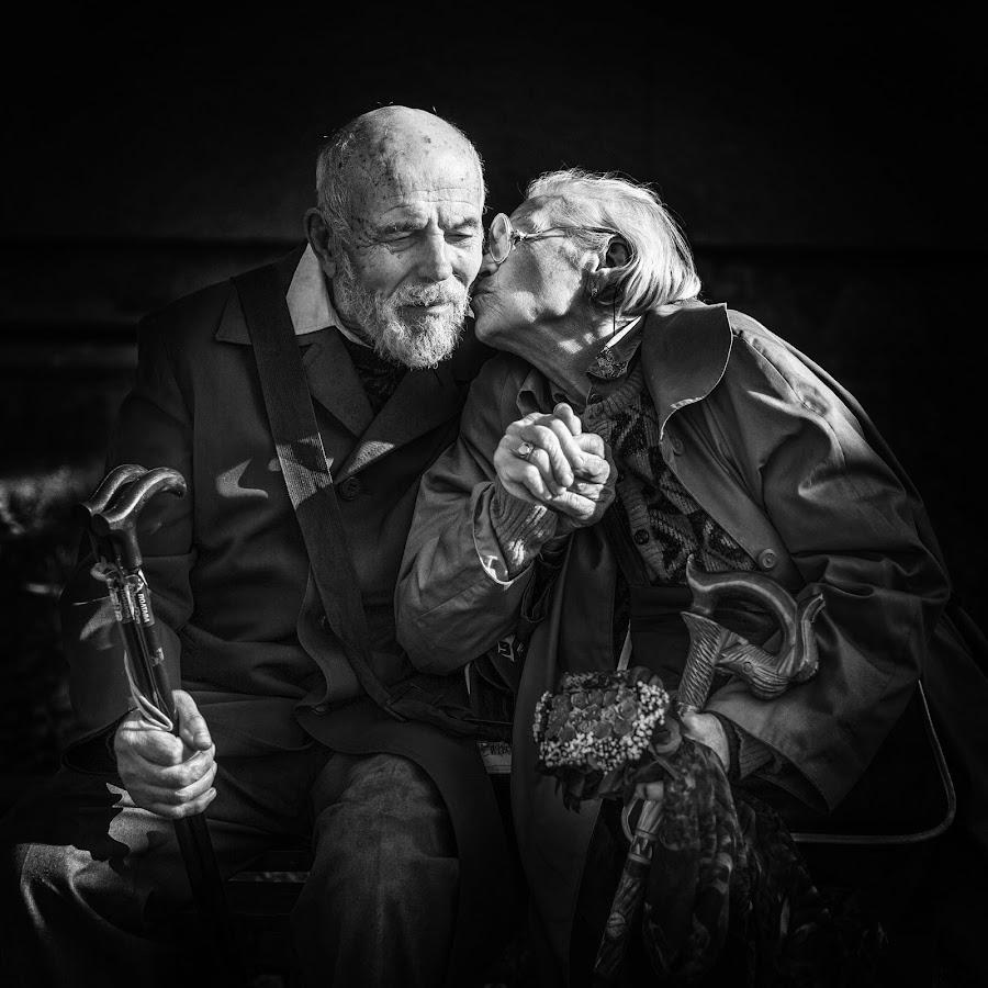 65 years together by DMYTRO SOBOKAR - People Couples ( old, monochrome, family, award, sobokar, old man, couple, portrait, #8rtcoMagazine )