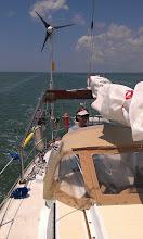 Photo: Back in the Keys. Motoring windward through Bowlegy Cut.