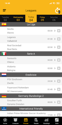 Live Soccer Scores 2.1.0 screenshots 3
