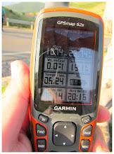 Photo: G.P.S. de mi amigo Felipe, ya que el mio se paró en al menos tres ocasiones, y no pude extraer de él, los datos correctos.
