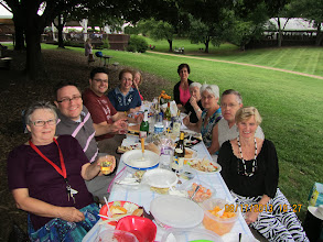 Photo: A group of Drott Lodge members (and friends) met on August 17th to attend a concert at Wolf Trap in Vienna, VA. There was laughter, great food, plenty of wine, and to top it all off... an evening of ABBA!