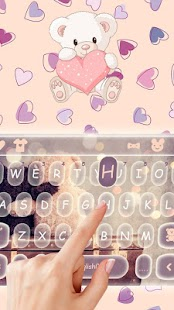 Cute Bear Keyboard Theme - náhled