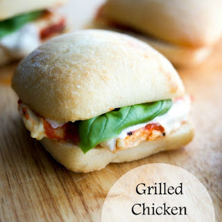 Grilled Chicken Parmesan Sliders {Quick + Easy}