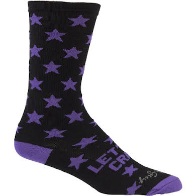 All-City Lets Go Crazy Sock: Purple/Black