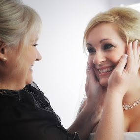 Bride and her mom by John & Sharon Green - Wedding Getting Ready ( mother, getting ready, bride )