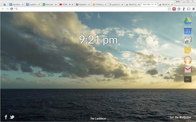 World View Wallpaper Tab Launcher chrome extension