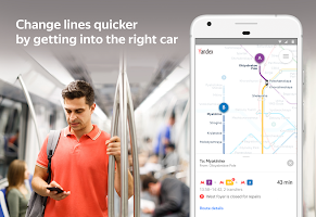 screenshot of Yandex.Metro — detailed metro maps and route times