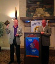 Photo: Jeff McDevitt was presented the John Carpenter Spirit of Rotary Award by President Wayne Zimmerman. Jeff reminded us to give support to the Interact Club members.