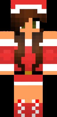 Christmas Minecraft Skin Girl.Brown Hair Girl Nova Skin
