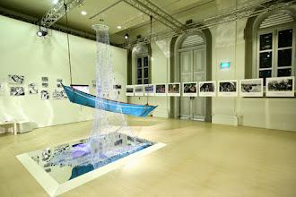 Photo: Orang Laut Swarovski crystal net on display at National Museum of Singapore Jan 2015