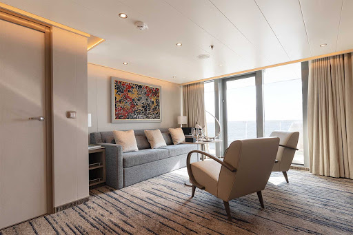 A look inside the Royal Suite aboard Silver Origin, the luxury expedition ship for exploring the Galapagos.
