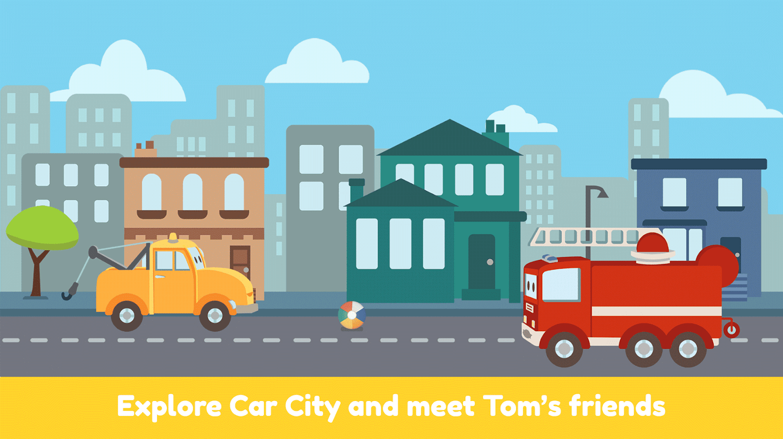 Tom the Tow Truck: Drive in Car City - Mini Mango- screenshot