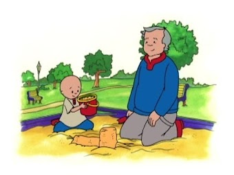Caillou goes camping/Learns to skate/Makes a new friend/Caillou and daddy/Caillou grows carrots