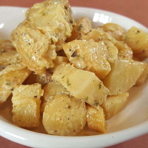 """GF parsnip """"potato"""" salad"""